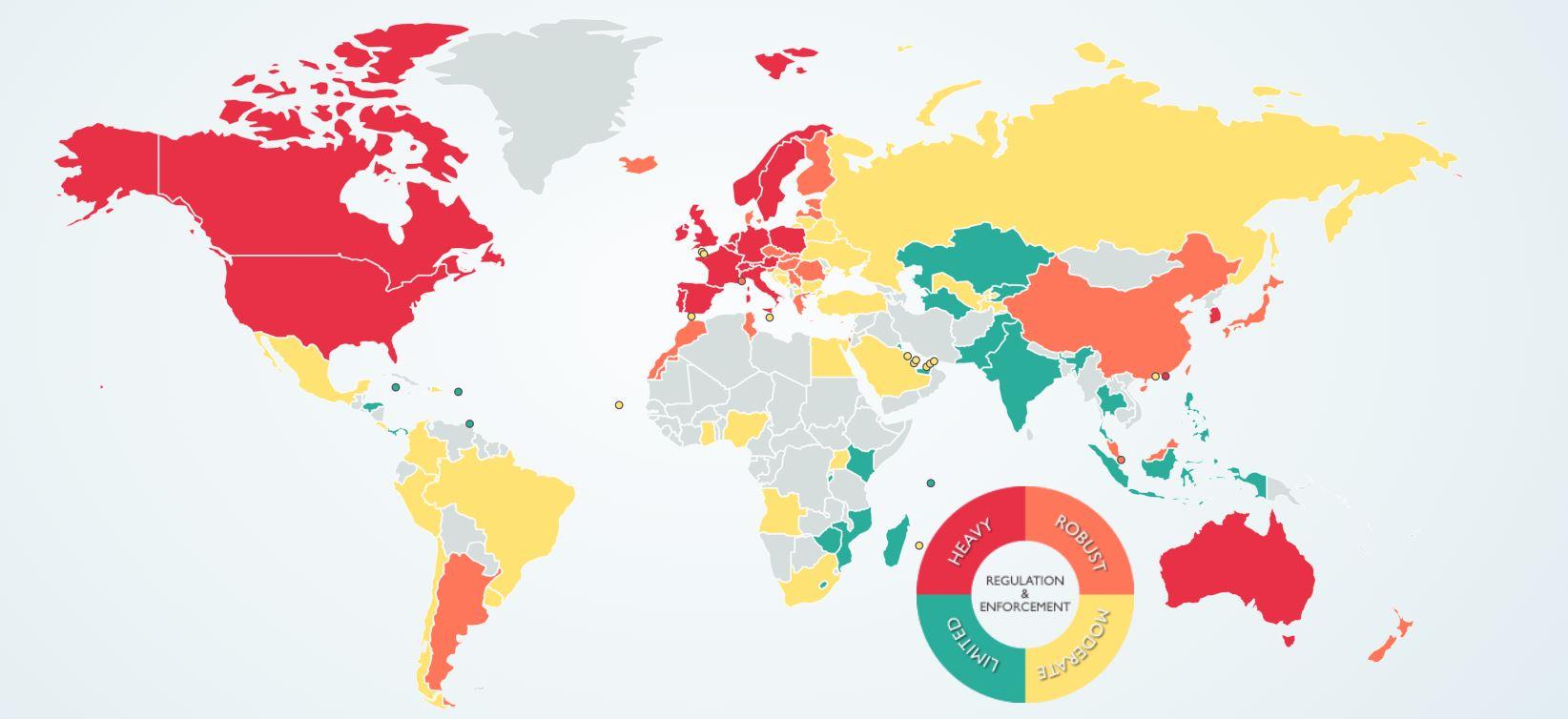 comparison of data privacy laws in the world