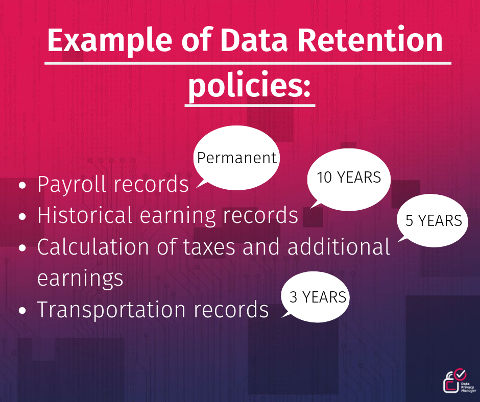 example of data retention policy