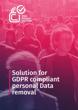 Solution for GDPR compliant Personal Data removal e-book