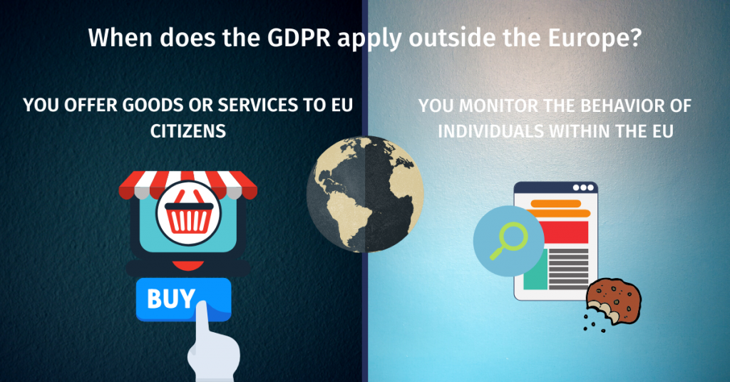When does the GDPR apply outside the Europe